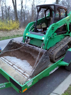 skid steer grading and excavating